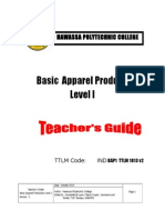 Basic Apparel Production 1 Teacher's Guide V2