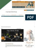 Crispy Ragi Pakoda Recipe