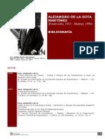 Bibliografia Alejandro de La Sota
