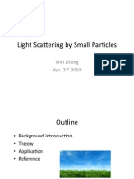 Light Scattering by Small Particles - Min Zhong