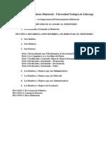 El Curso Del Entrenamiento Ministerial - Outline2