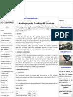 Radiographic Testing Procedure