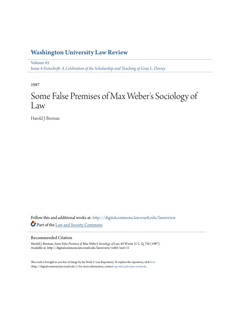 max weber sociology of law