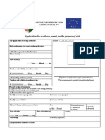 Visitor permisson application form for Hungary