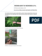 Membuat Herbarium Sederhana