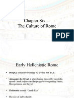 Chapter Six–– the Culture of Rome