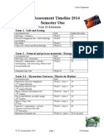 yr 10 assessment timeline 2014 full year extension