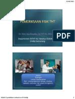 8. Praktikum Pemeriksaan Telinga Dr. Dian Ayu Sp. THT KL