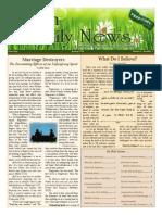 Faith And Family News Spring 2014