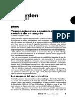 Bolivia, Transnacionales Españolas, Crónica de Un Saqueo