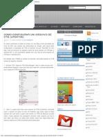 Como configurar um arquivo de CTB (Updatde) ~ Ambiente Technico