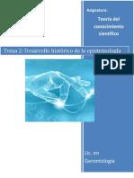 Tema 2 (Desarrollo histórico de la epistemologia)