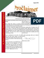 August 2014 Newsletter