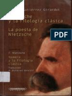 Rafael Guitiérrez Girardot - Nietzsche y La Filología Clásica La Poesía de. Nietzsche.
