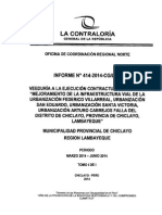 Veeduría - Obras de Infraestructura Vial - Municipalidad Provincial de Chiclayo