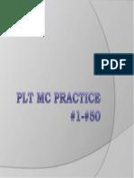 PLT MC Practice 1 to 50