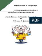 Livro de Resumos X Semana de Qumica Www Unifev Edu Br