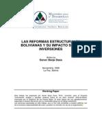 Las Reformas Estructurales Bolivianas y Su Impacto Sobre Inversiones