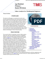An Introduction to Failure Analysis for Metallurgical Engineers