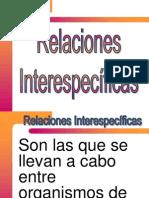 RELACIONES INTERESPECIFICAS