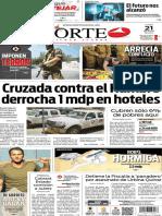 Periódico Norte edición del día lunes 21 de julio de 2014