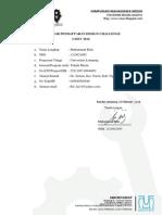Formulir Pendaftaran Dc