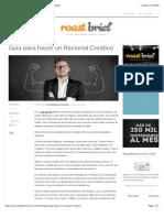 Guía para hacer un Racional Creativo | RoastbriefRoastbrief.pdf