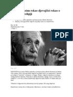 Šta Je Einsteinn Rekao Djevojčici Rekao o Molitvi i Religiji