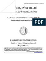 BA Hons Philosophy Syllabus FYUP