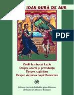 Sf. Ioan Gura de Aur- Omilii la dreptul Lazar; Despre rugaciune, soarta, providenta