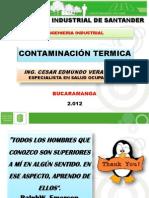 Prest Contaminaciión Térmica Uis Bucaramanga Cesar 2012