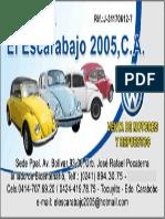 Tarjeta de Presentacion Escarabajo2005