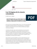 Isaza_los Diez Dogmas de La Educacion en Colombia