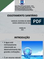 Apresentação - Esgotamento Sanitário - Ufcg