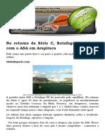No Retorno Da Série C, Botafogo-PB Empata Com o ASA Em Arapiraca