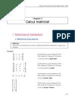Calcul Matriciel Cours