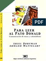 Para Leer Al Pato Donald (Dorfman Mattelart)