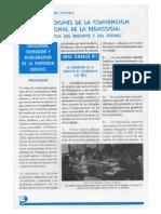 Conclusiones de La Convención Nacional de La Pedagogía. Desafios Del Presente y Del Futuro