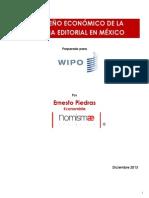 Piedras Desempeño Económico de La Industria Editorial en Mexico Poedras 2013