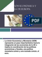 Integración Económica y Monetaria de Europa