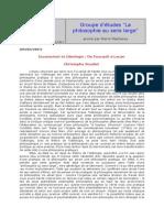 Inconscient Et Idéologie - De Foucault à Lacan