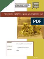 Proceso de Extracción Del Oro Con Solventes