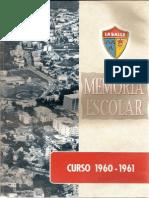 Memoria Escolar Curso 1960-1961