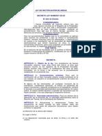 DECRETO LEY NUMERO 125-83, Ley de Rectificacion de Areas