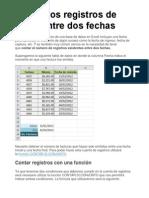 Contar Los Registros de Excel Entre Dos Fechas