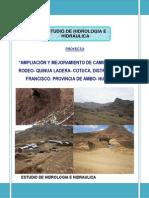 Estudio Hidrológico e Hidráulico Del Proyecto