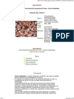 Processamento Artesanal de Frutas - Fruta Cristalizada ( Abacaxi, Figo, Mamão )
