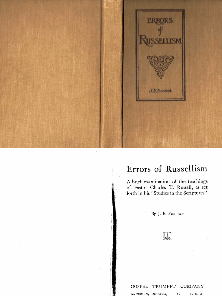 1915 Errors Of Russellism End Time Salvation Making A Circuit Ichild