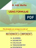 Using Formulae