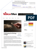 Challenging the Etiology of Rape a Voice for Men